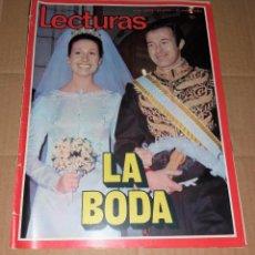 Coleccionismo de Revistas: REVISTA DEL CORAZÓN. LECTURAS BODA CARMEN MARTÍNEZ BORDIÚ, Nº1039 17/03/1972. Lote 140618526