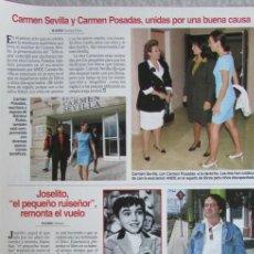 Collectionnisme de Magazines: RECORTE LECTURAS 2357 1997 CARMEN SEVILLA, JOSELITO. Lote 140885242