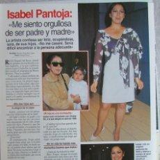Coleccionismo de Revistas: RECORTE LECTURAS 2357 1997 ISABEL PANTOJA. GABRIEL CORRADO.. Lote 152390644