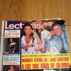 Coleccionismo de Revistas: REVISTA LECTURAS. Lote 141576664