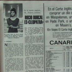 Coleccionismo de Revistas: RECORTE REVISTA LECTURAS Nº 1298 1977 ROCIO DURCAL. Lote 143577678