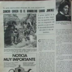Coleccionismo de Revistas: RECORTE REVISTA LECTURAS Nº 1298 1977 SANCHO GRACIA, CURRO JIMENEZ. Lote 152311389