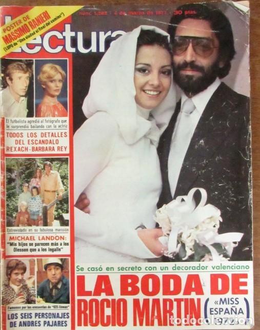 Coleccionismo de Revistas: RECORTE REVISTA LECTURAS Nº 1298 1977 ROCIO MARTIN, MISS ESPAÑA 1972. PORTADA Y 4 PGS - Foto 2 - 143578498
