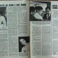 Coleccionismo de Revistas: RECORTE REVISTA LECTURAS Nº 1298 1977 GARY GILMORE. Lote 143578822