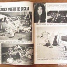 Coleccionismo de Revistas: RECORTE REVISTA LECTURAS Nº 1269 1976 MUERTE DE LA CANTANTE CECILIA. PORTADA Y 8 PGS. Lote 143722652