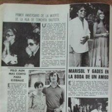 Coleccionismo de Revistas: RECORTE REVISTA LECTURAS 1264 1976 MARISOL Y GADES. ESTIBALIZ, CONCHITA BAUTISTA. Lote 143590038