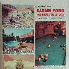 Coleccionismo de Revistas: RECORTE REVISTA LECTURAS 1256 1976 GLENN FORD, LALY SOLDEVILA. Lote 143614854