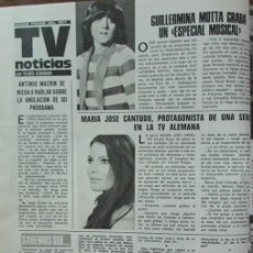 Coleccionismo de Revistas: RECORTE REVISTA LECTURAS 1256 1976 GUILLERMINA MOTTA, MARIA JOSE CANTUDO. Lote 143615070
