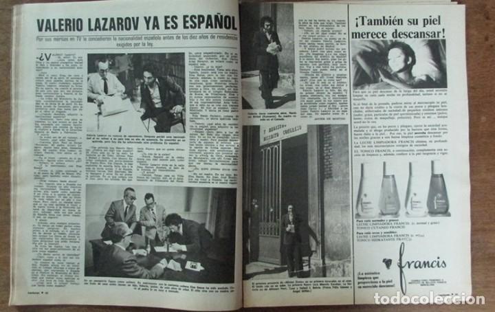 RECORTE REVISTA LECTURAS 1256 1976 VALERIO LAZAROV (Coleccionismo - Revistas y Periódicos Modernos (a partir de 1.940) - Revista Lecturas)