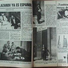 Coleccionismo de Revistas: RECORTE REVISTA LECTURAS 1256 1976 VALERIO LAZAROV. Lote 143615178