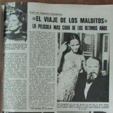 Coleccionismo de Revistas: RECORTE REVISTA LECTURAS 1256 1976 EL VIAJE DE LOS MALDITOS. Lote 143615974
