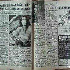 Coleccionismo de Revistas: RECORTE REVISTA LECTURAS 1256 1976 MARIA DEL MAR BONET. Lote 143616006