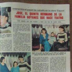 Coleccionismo de Revistas: RECORTE REVISTA LECTURAS 1256 1976 JOSE GOYANES. AGATA LYS.. Lote 143616270