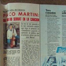 Coleccionismo de Revistas: RECORTE REVISTA LECTURAS 1256 1976 PACO MARTIN. Lote 143616374