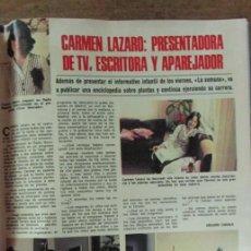 Coleccionismo de Revistas: RECORTE REVISTA LECTURAS 1256 1976 CARMEN LAZARO. Lote 143616422