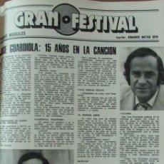 Coleccionismo de Revistas: RECORTE REVISTA LECTURAS 1256 1976 JOSE GUARDIOLA. Lote 143617222