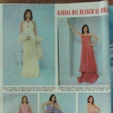 Coleccionismo de Revistas: RECORTE REVISTA LECTURAS 1256 1976 KARINA. Lote 143617258