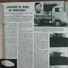Coleccionismo de Revistas: RECORTE REVISTA LECTURAS Nº 1147 1974 OVNIS EN ANDALUCIA. SANCHO GRACIA. Lote 152311378