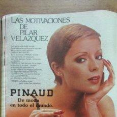Collectionnisme de Magazines: RECORTE LECTURAS 1977 PUBLICIDAD PINAUD. PILAR VELAZQUEZ. . Lote 146077294