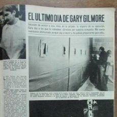 Coleccionismo de Revistas: RECORTE LECTURAS 1977 GARY GILMORE 4 PGS. Lote 146077706