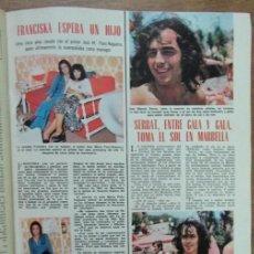 Coleccionismo de Revistas: RECORTE LECTURAS 1974 FRANCISKA, SERRAT, RAFAELA APARICIO, ANDRES PAJARES. Lote 277006983