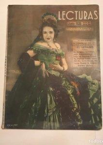 Revista Lecturas nº 169 junio de 1935. En portada Carmen Diaz