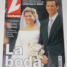 Coleccionismo de Revistas: BODA REAL 1997 PRINCESS INFANTA CRISTINA SPAIN & URDANGARIN LECTURAS MAGAZINE REVISTA. Lote 149047950