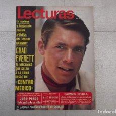 Coleccionismo de Revistas: REVISTA LECTURAS 1971. CHAD EVERETT (DR. GANNON), CARMEN SEVILLA, PASCALE PETIT, KATHARINE HEPBURN. Lote 151482402