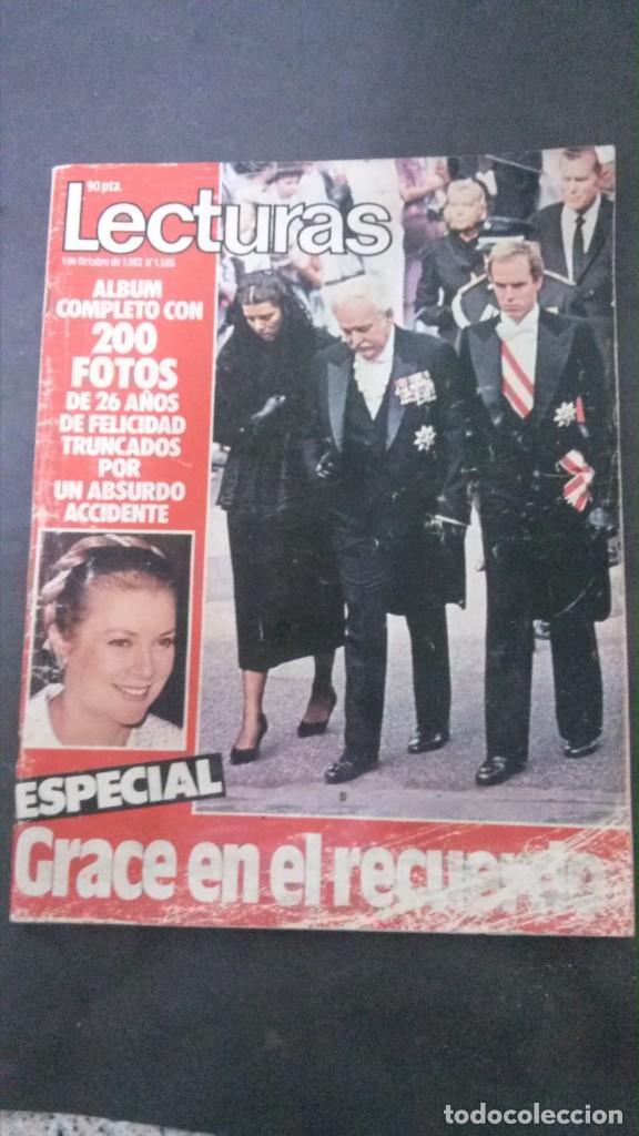 GRACE KELLY-CAROLINA DE MONACO-MIGUEL BOSE-ALASKA-MECANO-UN DOS TRES-ANGELES DE CHARLIE-MALAGA-ALBO (Collectable Paper - Modern Magazines and Newspapers (since 1940) - Lecturas)