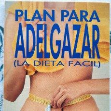 Coleccionismo de Revistas: PLAN PARA ADELGAZAR (LA DIETA FÁCIL) LECTURAS - JUNIO 1992. Lote 151999746
