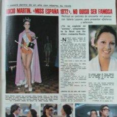 Coleccionismo de Revistas: RECORTE LECTURAS Nº 1176 1974 ROCIO MARTIN, MISS ESPAÑA 1972. 3 PGS. Lote 152646354