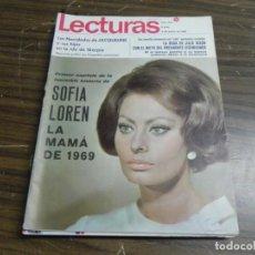 Coleccionismo de Revistas: LECTURAS 03/01/1969 SOFIA LOREN - JULIE NIXON . Lote 154959958