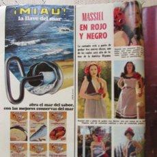 Coleccionismo de Revistas: RECORTE REVISTA LECTURAS Nº 1257 1978 MASSIEL. Lote 155130030