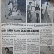Collectionnisme de Magazines: RECORTE LECTURAS 1137 1974 MAXIMO VALVERDE. Lote 155269342