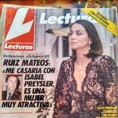 Coleccionismo de Revistas: LECTURAS 1941 16 JUNIO 1989 ISABEL PREYSLER, FALCON CREST. Lote 155282610