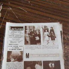 Coleccionismo de Revistas: LECTURAS 22/03/1963- LA PRINCESA CRISTINA DE SUECIA- LA PRINCESA SOFIA- MARY SANTPERE- SIN TAPAS. Lote 155500742