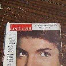 Coleccionismo de Revistas: LECTURAS 25/01/1963- JAQUELINE KENNEDY - DIANA DE FRANCIA- ISABEL DE FRANCIA-VICTOR MANUEL- EL SHA . Lote 155500990