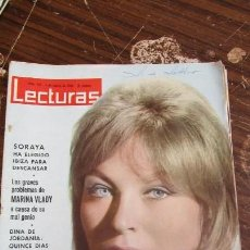 Coleccionismo de Revistas: LECTURAS 01/03/1963. SORAYA. MARINA VLADY. LUCIA BOSÈ. DINA DE JORDANIA . Lote 155501166