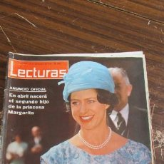 Coleccionismo de Revistas: LECTURAS 13/12/1963- MARGARITA DE INGLATERRA-JACQUELINE KENNEDY-SORAYA . Lote 155501446