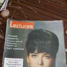 Coleccionismo de Revistas: LECTURAS 22/11/1963- SUSANNE PLESHETTE- DUO DINAMICO- LUCIA BOSE- VICTOR MANUEL Y MARINA . Lote 155501674