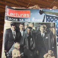 Coleccionismo de Revistas: LECTURAS 06/12/1963. JACKIE DE LUTO, MUERTE DE KENNEDY . Lote 155502202