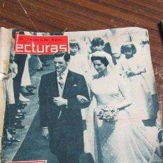 Coleccionismo de Revistas: LECTURAS 03/05/1963 - EXTRA BODA DE ALEJANDRA DE KENT Y ANGUS OGI . Lote 155502470