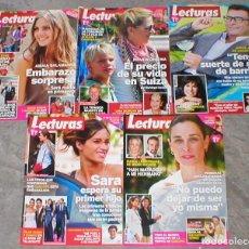 Coleccionismo de Revistas: GRAN LOTE COLECCION 14 REVISTAS DIFERENTES LECTURAS + PRONTO MUERTE MANOLO ESCOBAR MUY BUEN ESTADO !. Lote 155751958