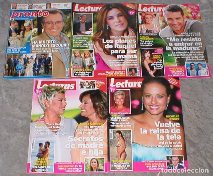 Coleccionismo de Revistas: GRAN LOTE COLECCION 14 REVISTAS DIFERENTES LECTURAS + PRONTO MUERTE MANOLO ESCOBAR Muy Buen Estado ! - Foto 3 - 182789573