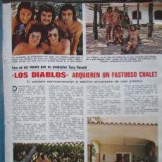 Coleccionismo de Revistas: RECORTE LECTURAS Nº 1165 1974 LOS DIABLOS. TONY RONALD. Lote 155885818