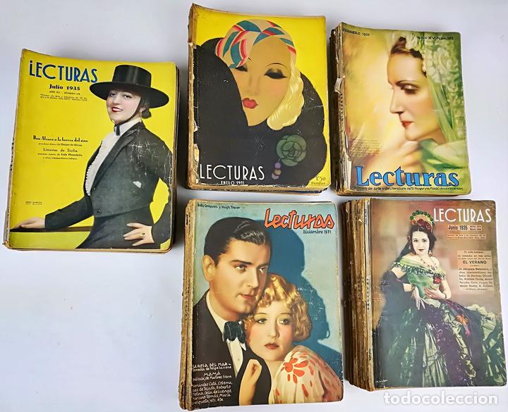 50 REVISTAS LECTURAS. SOCIEDAD GENERAL DE PUBLICACIONES.BARCELONA AÑOS 1930-1937 (Coleccionismo - Revistas y Periódicos Modernos (a partir de 1.940) - Revista Lecturas)