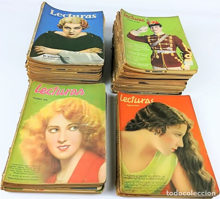Coleccionismo de Revistas: 50 REVISTAS LECTURAS. SOCIEDAD GENERAL DE PUBLICACIONES.BARCELONA AÑOS 1930-1937 - Foto 7 - 156174370