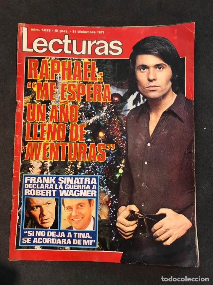 LECTURAS REVISTA DE 1971 SIN PÓSTER CENTRAL (Coleccionismo - Revistas y Periódicos Modernos (a partir de 1.940) - Revista Lecturas)