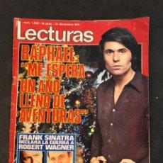 Coleccionismo de Revistas: LECTURAS REVISTA DE 1971 SIN PÓSTER CENTRAL. Lote 157750946