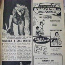 Coleccionismo de Revistas: RECORTE REVISTA LECTURAS Nº 1152 1974 SARA MONTIEL. Lote 158012422
